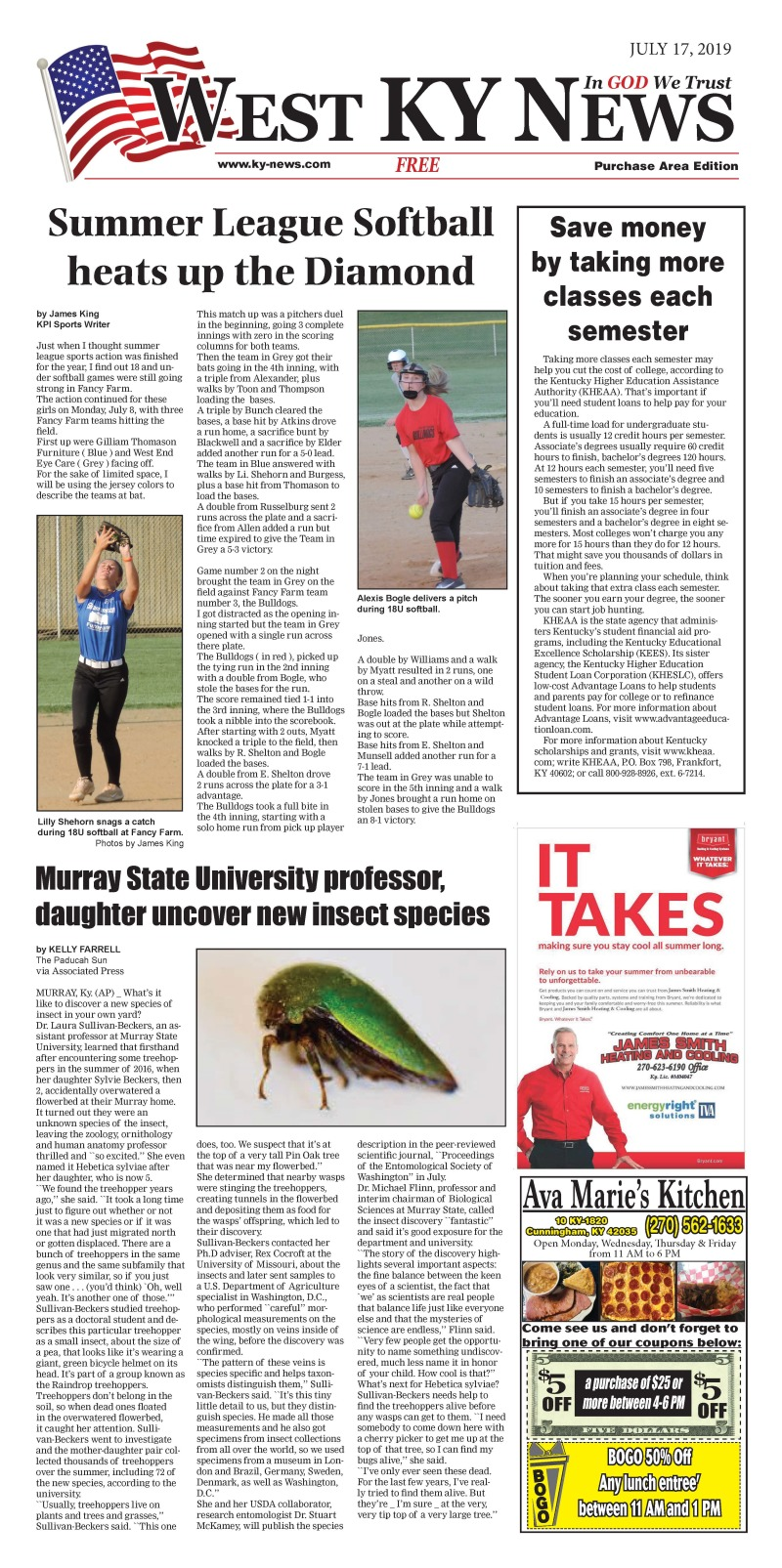 West KY News Purchase edition 7-17-19