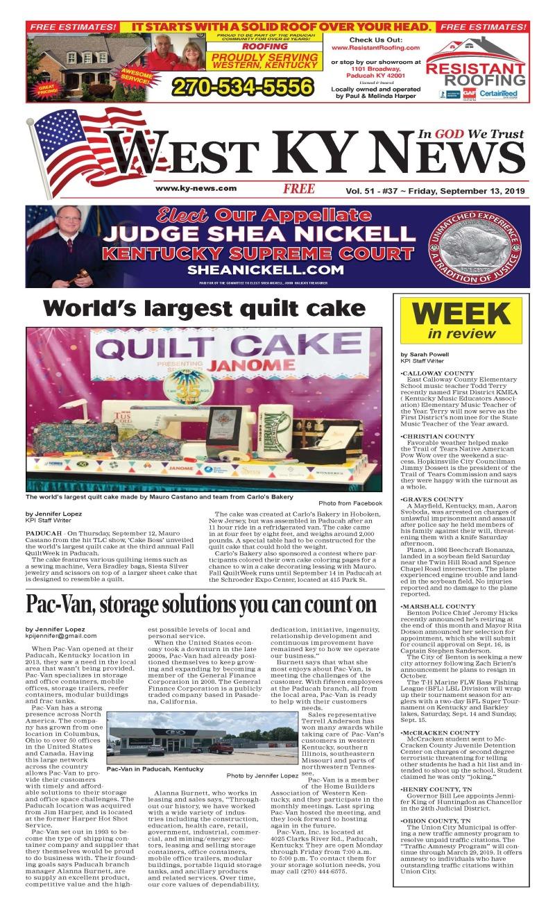 West KY News 9-13-19