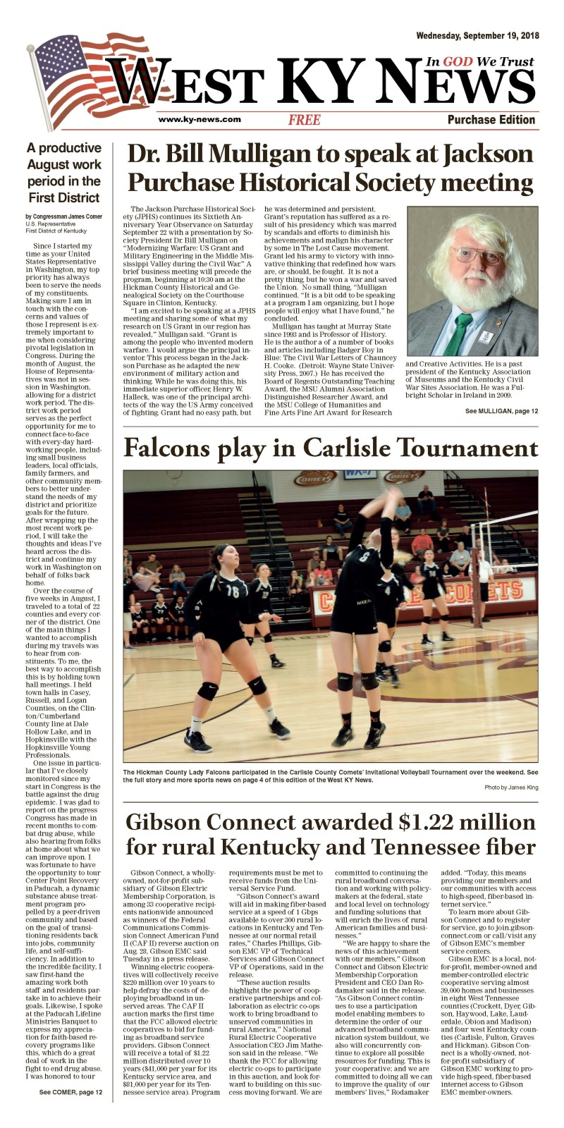 West KY News Purchase edition 9-19-18