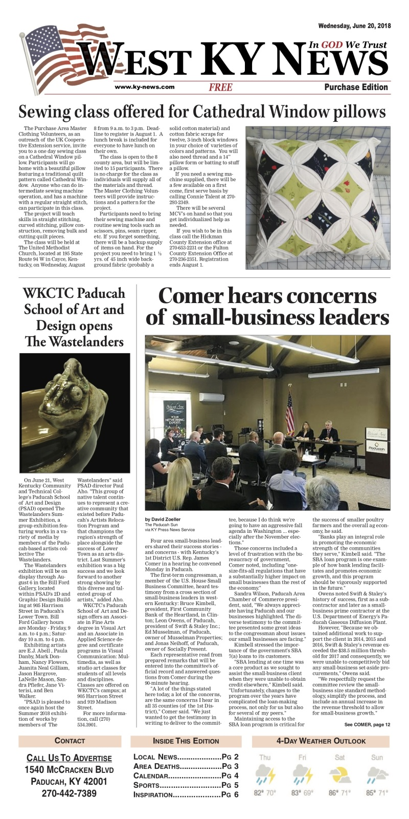 West KY News Purchase edition 6-20-18