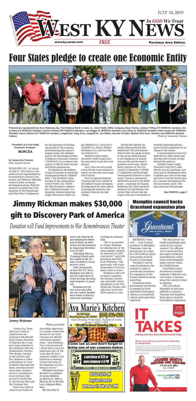 West KY News Purchase edition 7-10-19