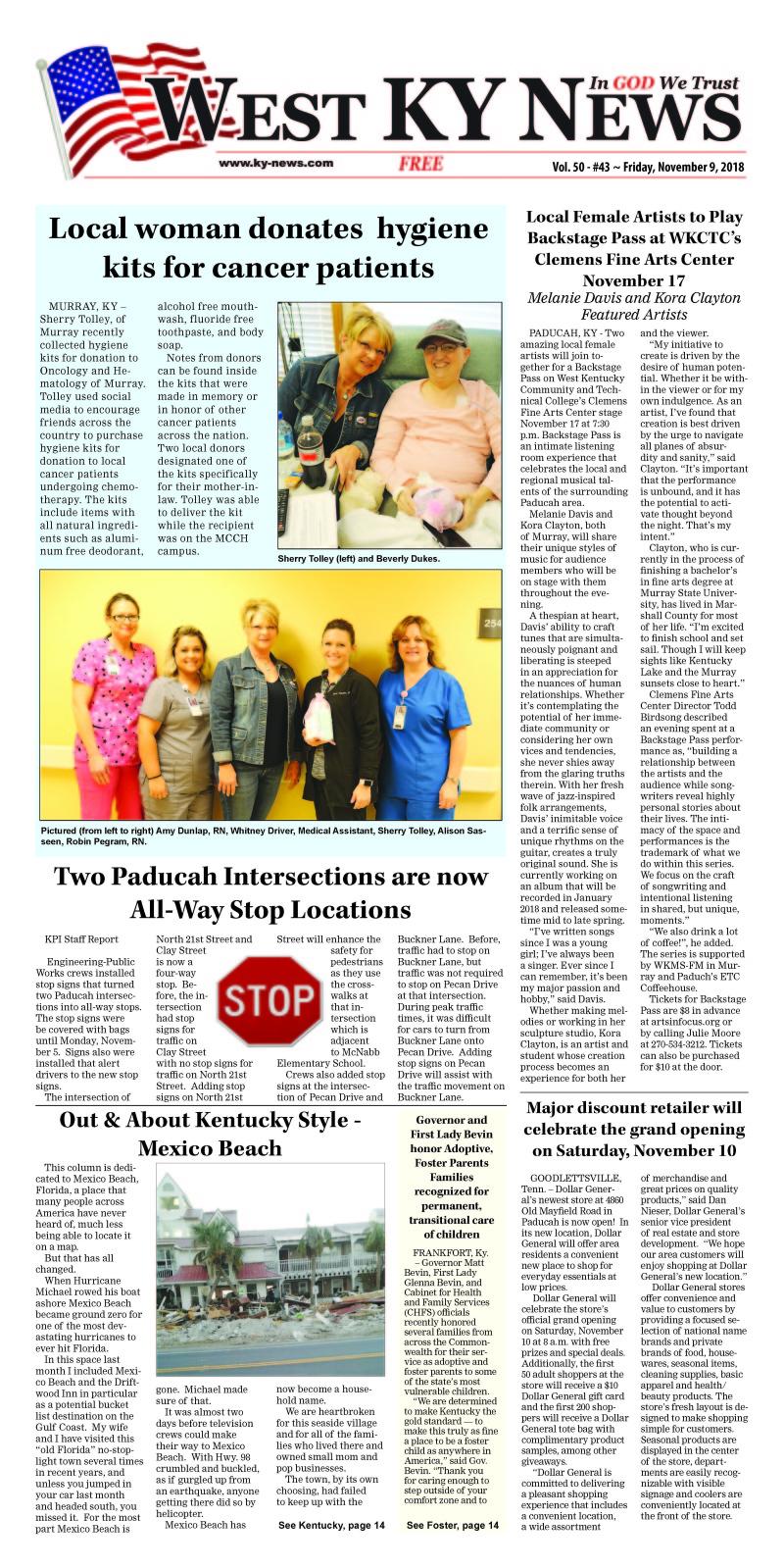 West KY News 11-9-18