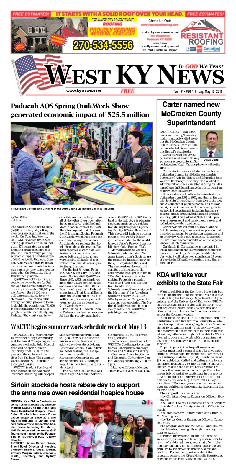 West KY News 5-17-19
