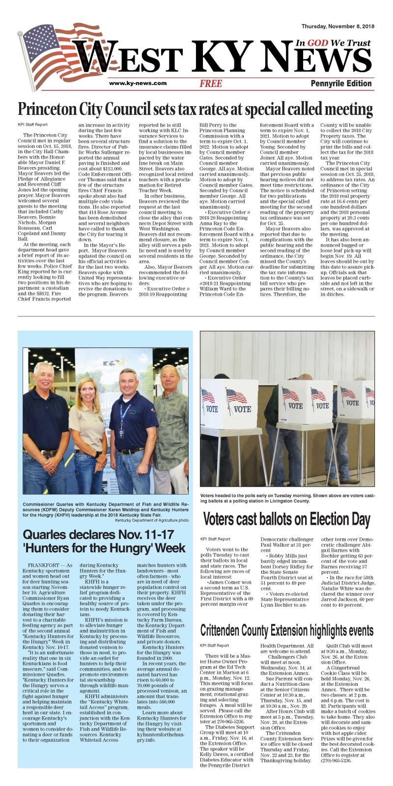 West KY News: Pennyrile Edition 11-8-18