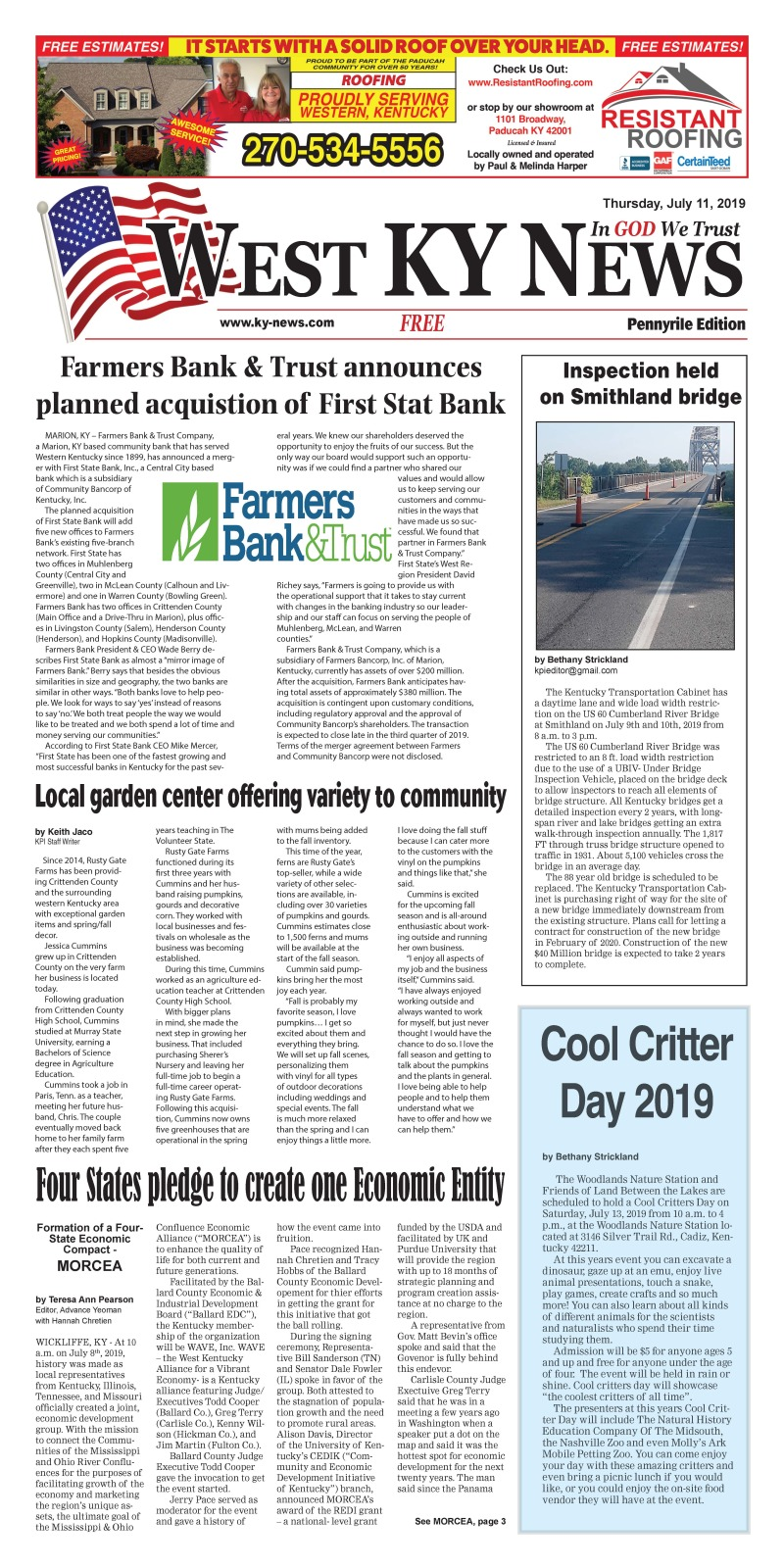 West KY News Pennyrile 7-11-19