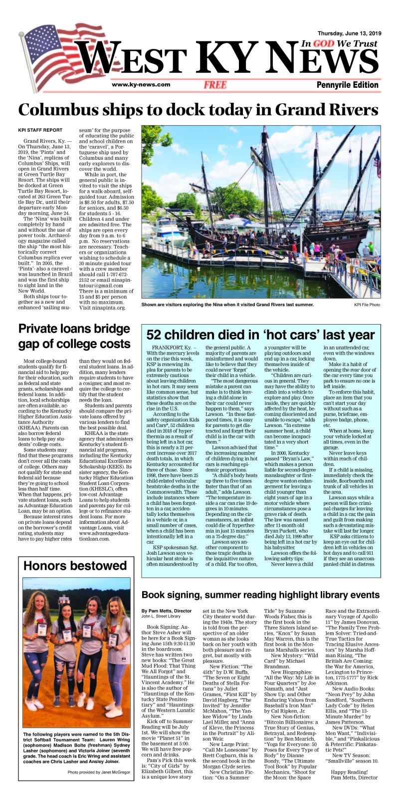 West KY News Pennyrile 6-12-19