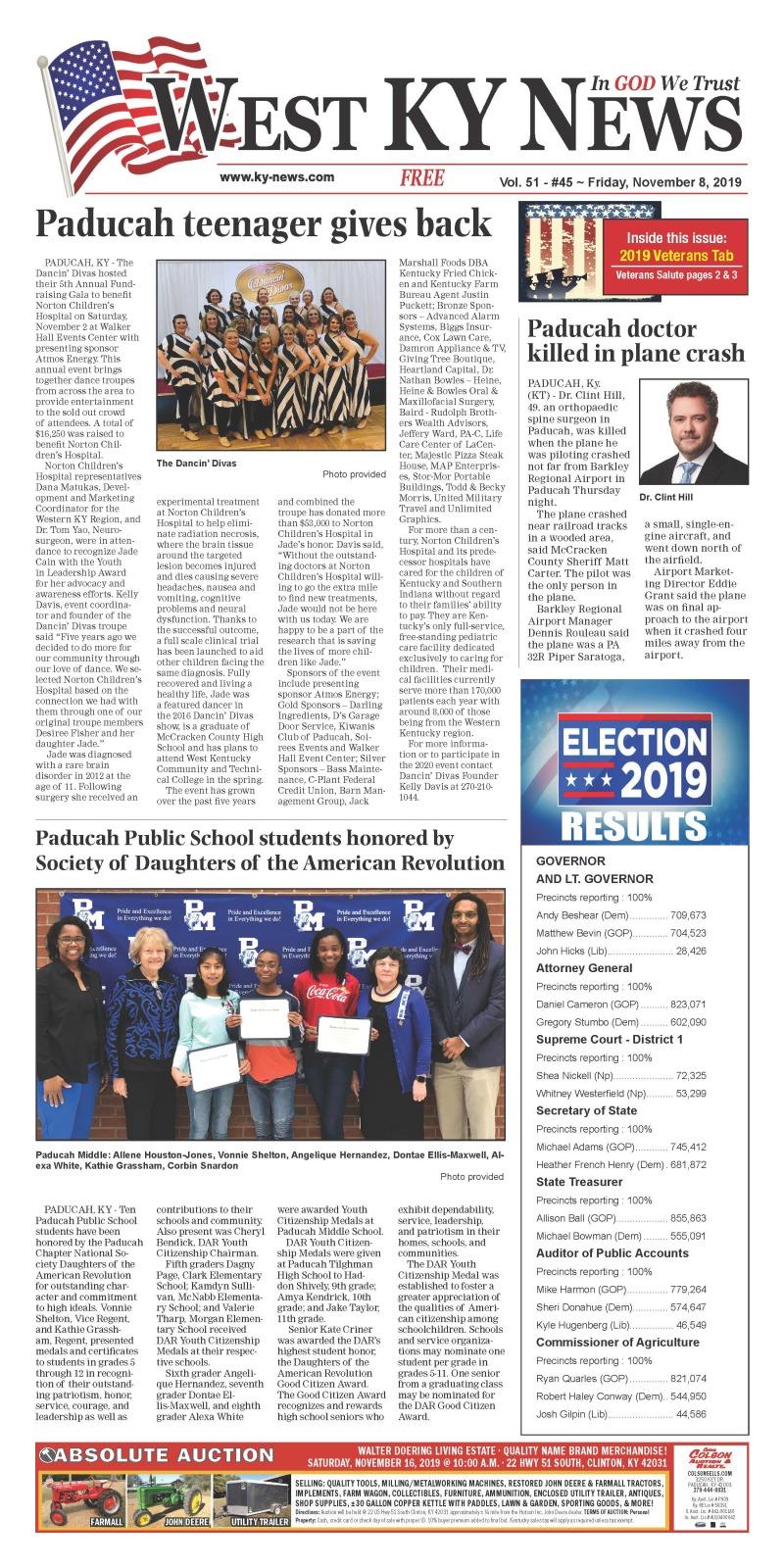 West KY News 11-8-19