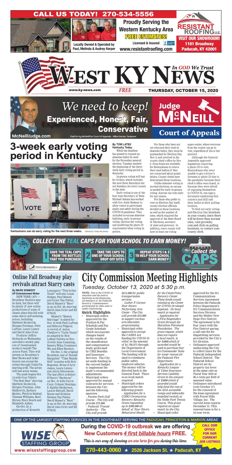 West KY News 10-15-20