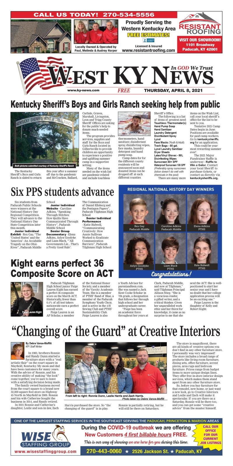 West KY News 4-8-21