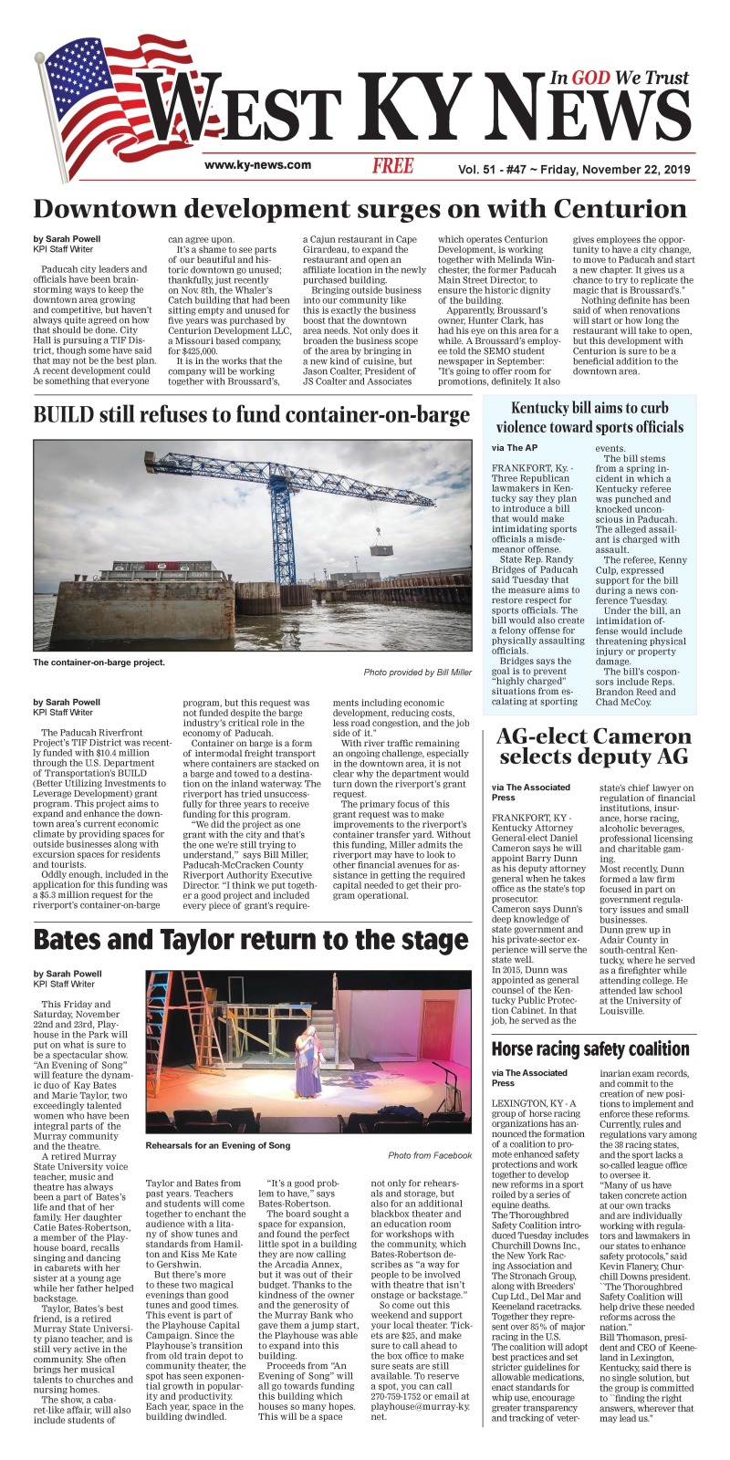 West KY News 11-22-19