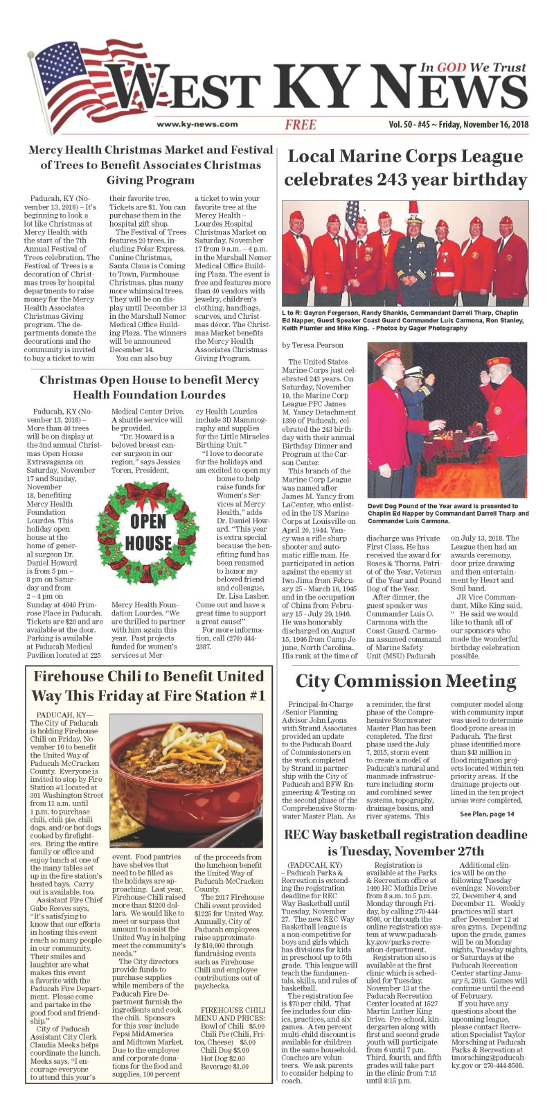 West KY News 11-16-18