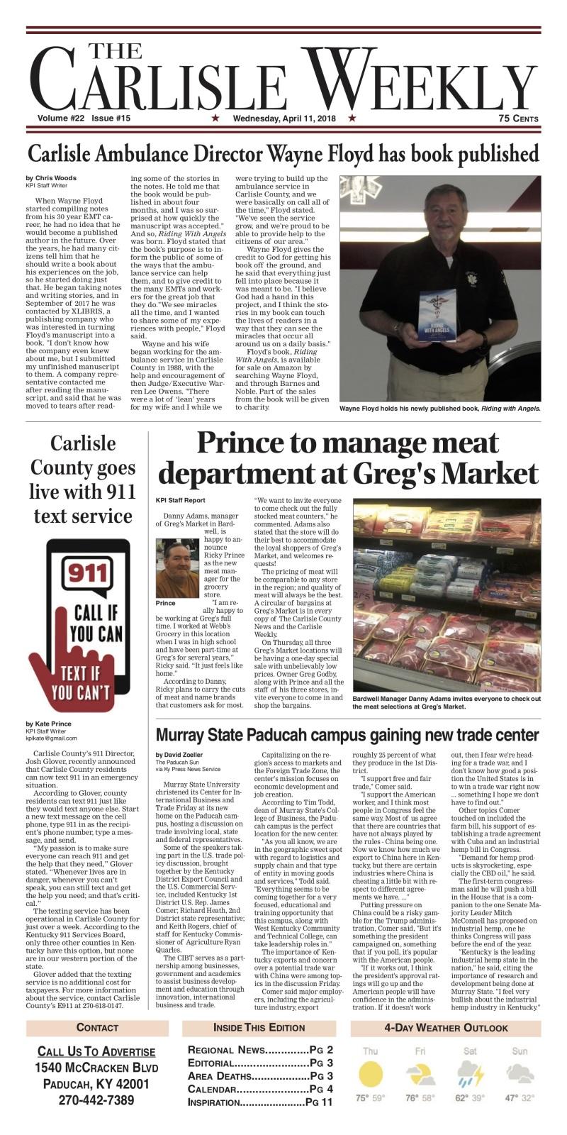 Carlisle County Weekly 4-10-18