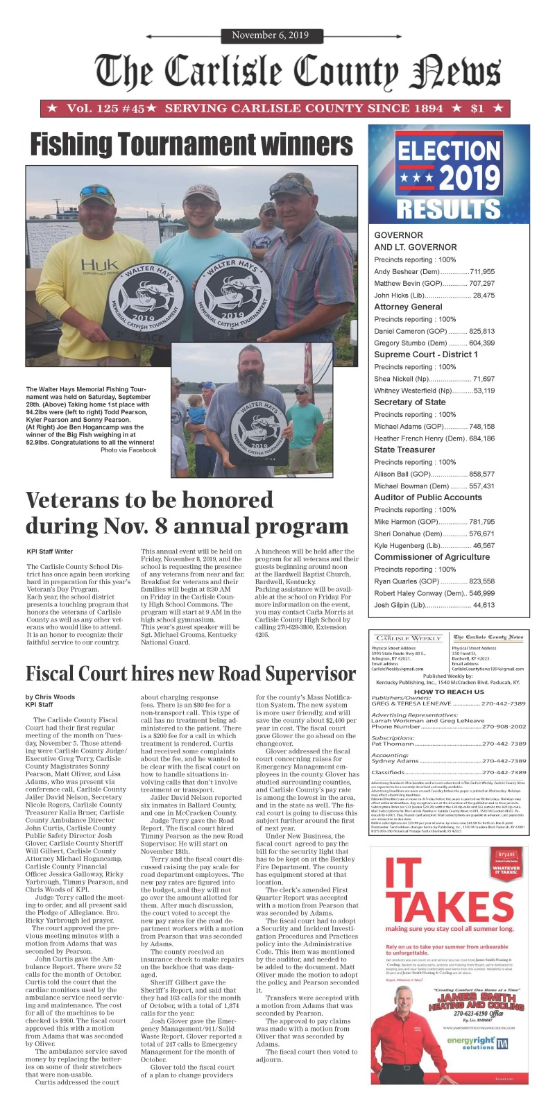 Carlisle County News  11-6-19