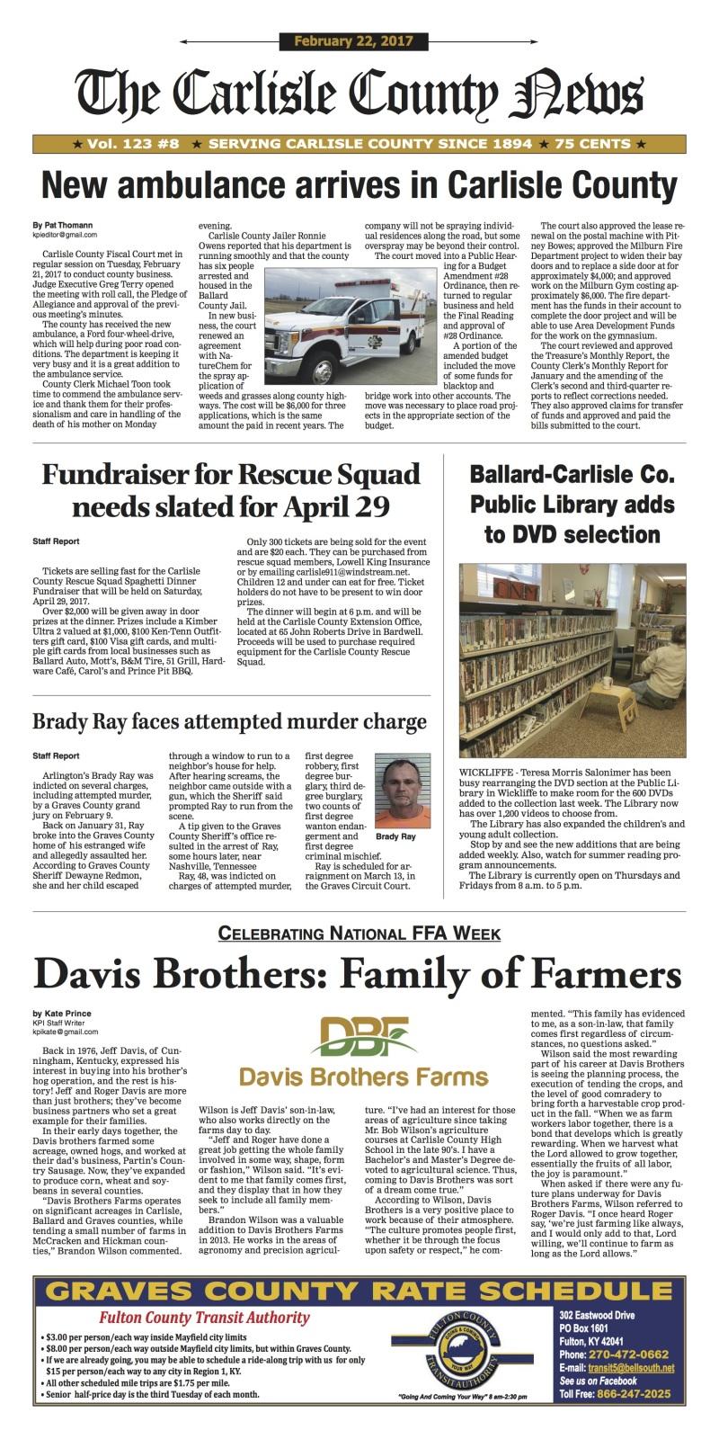 Carlisle County News 2-22-17