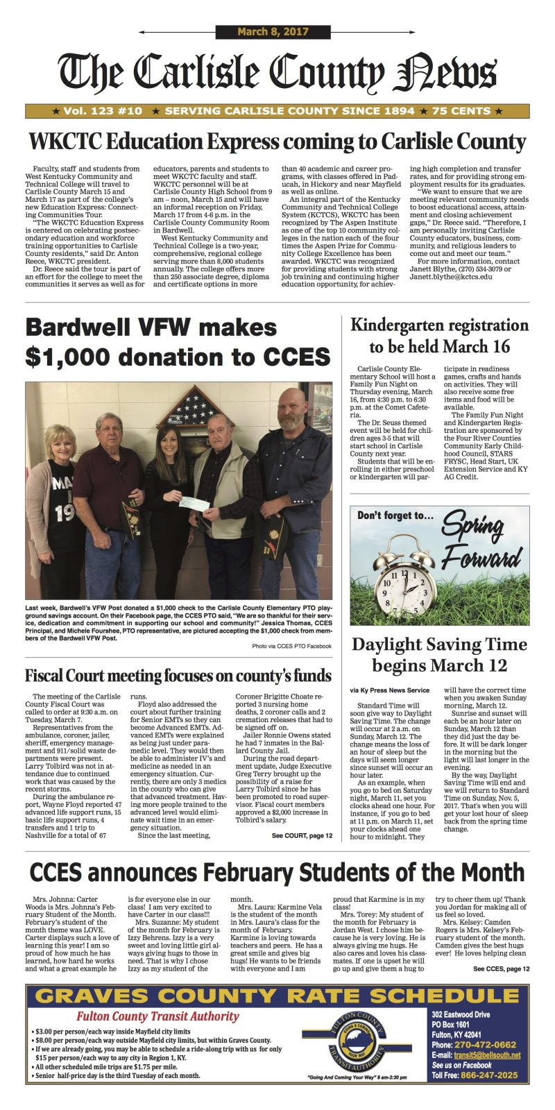 Carlisle County News 3-8-17