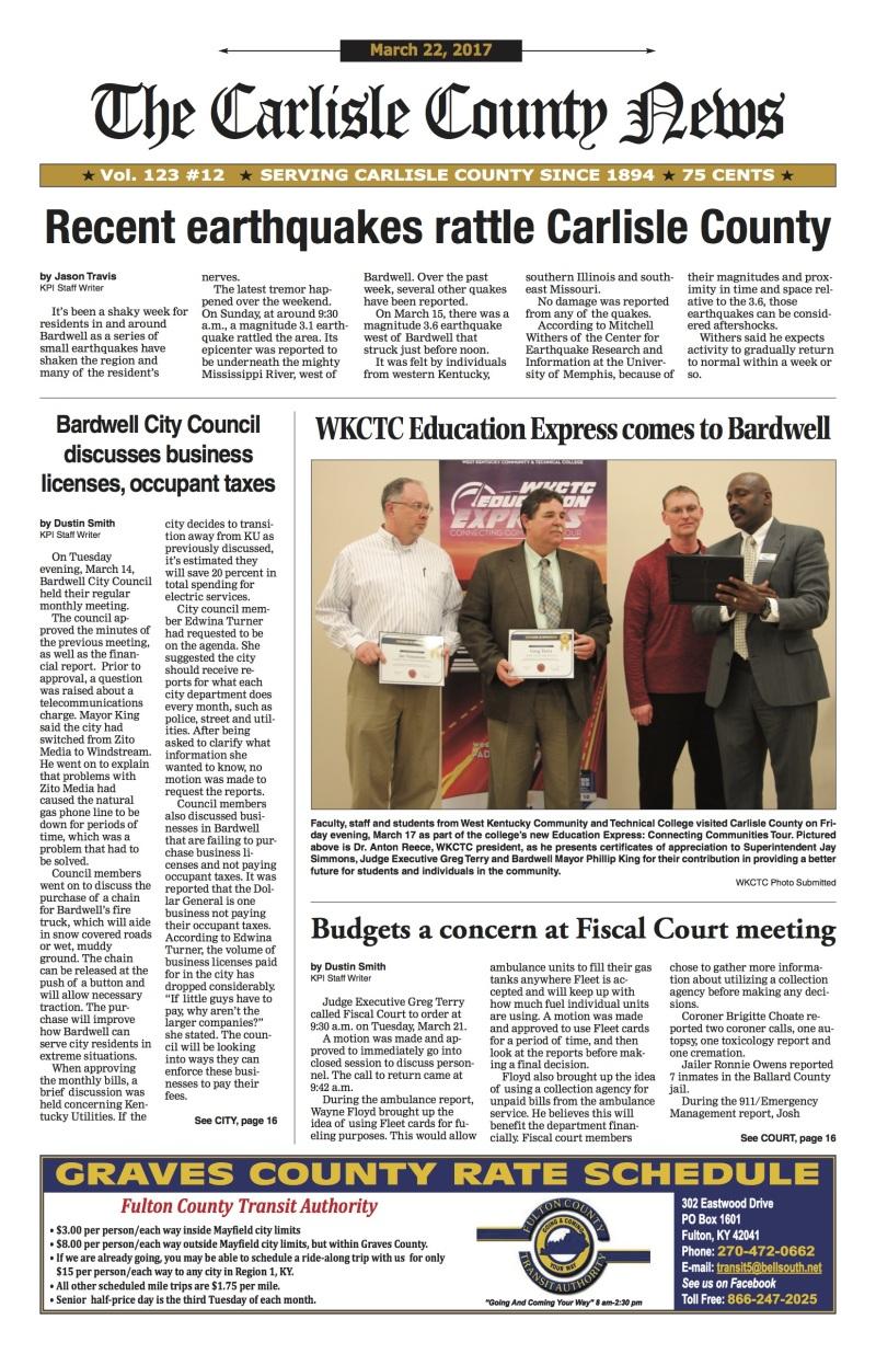 Carlisle County News 3-22-17