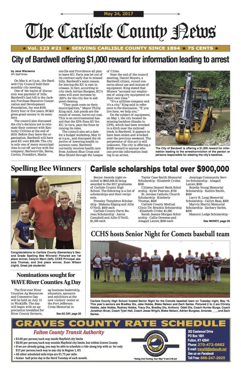 Carlisle County News 5-24-17