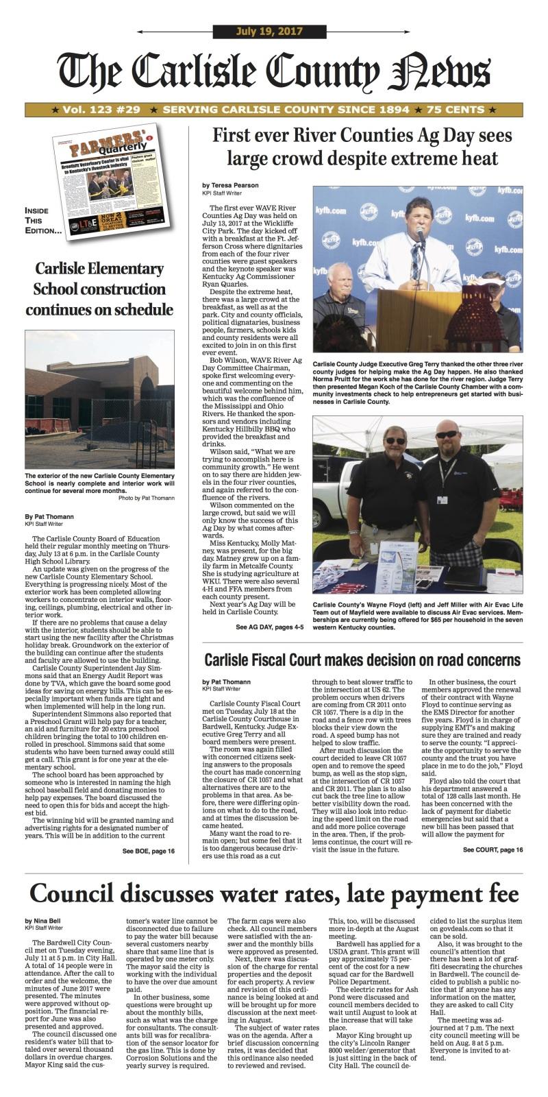 Carlisle County News 7-19-17