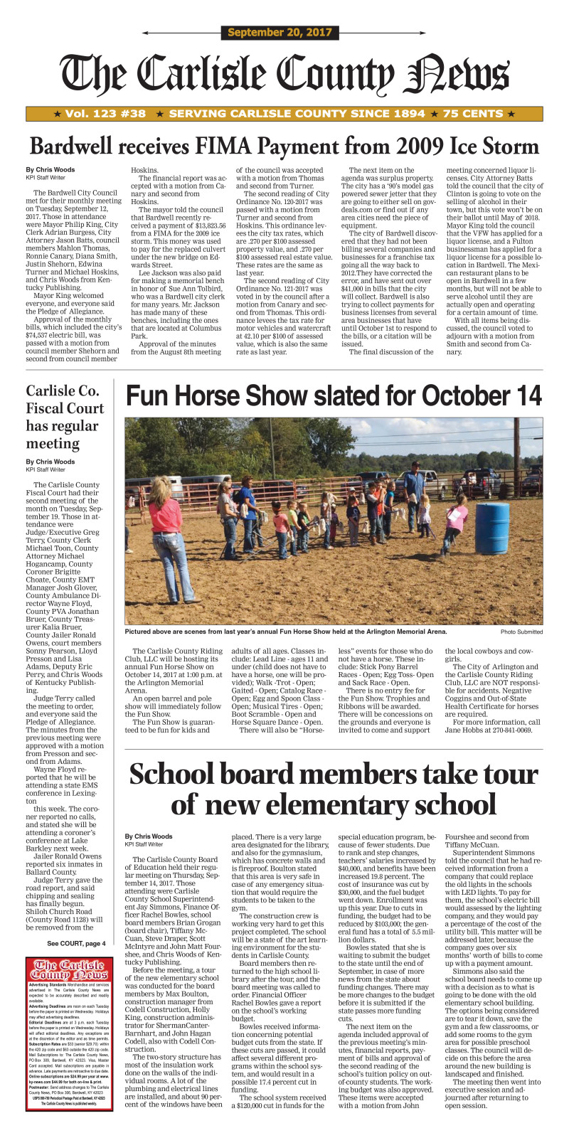 Carlisle County News 9-20-17