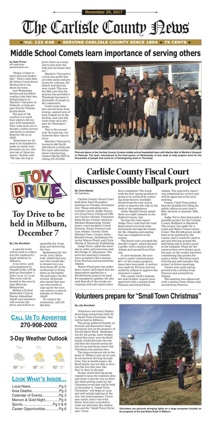 Carlisle County News 11-29-17