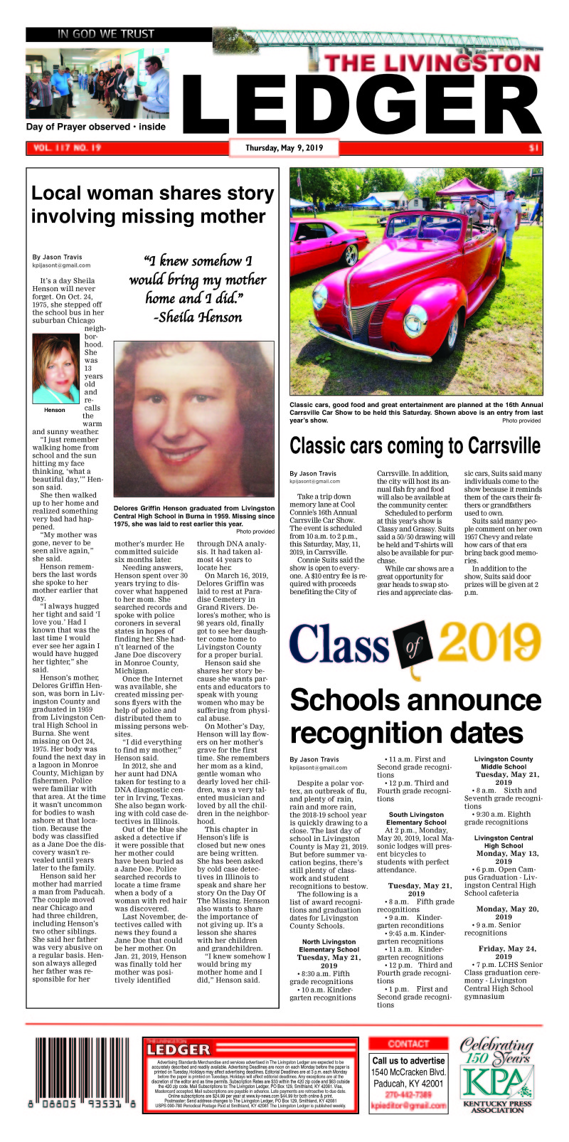 Livingston Ledger 5-9-19