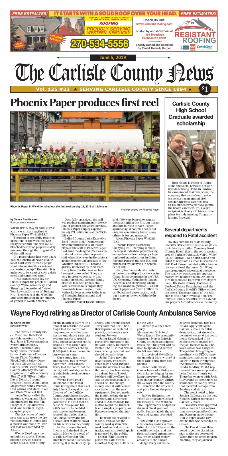 Carlisle County News  6-5-19