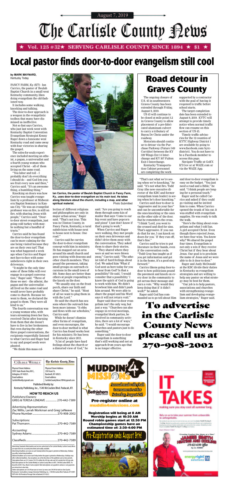 Carlisle County News 8-7-19
