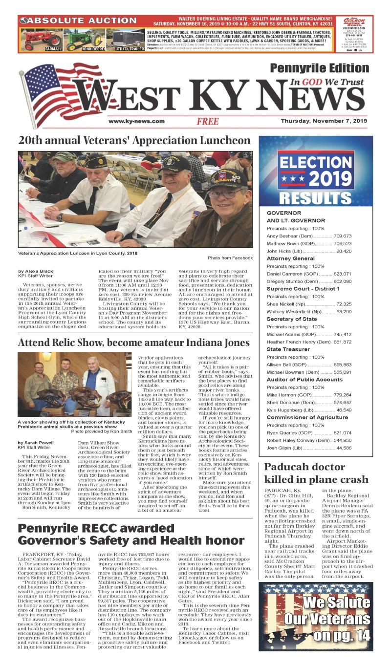 West KY News Pennyrile 11-7-19