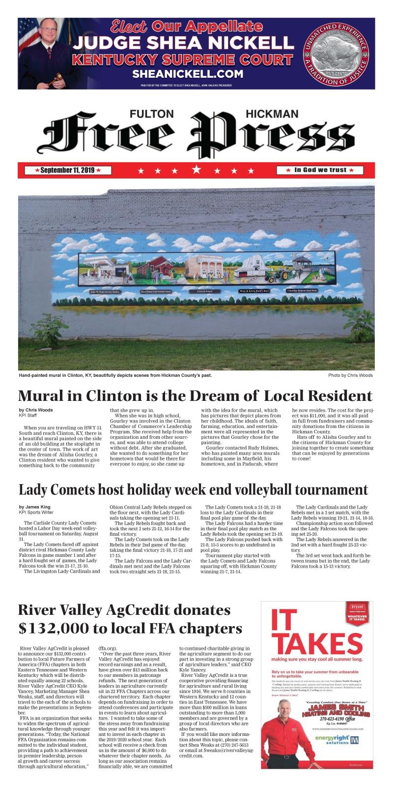 Fulton Hickman Free Press 9-11-19