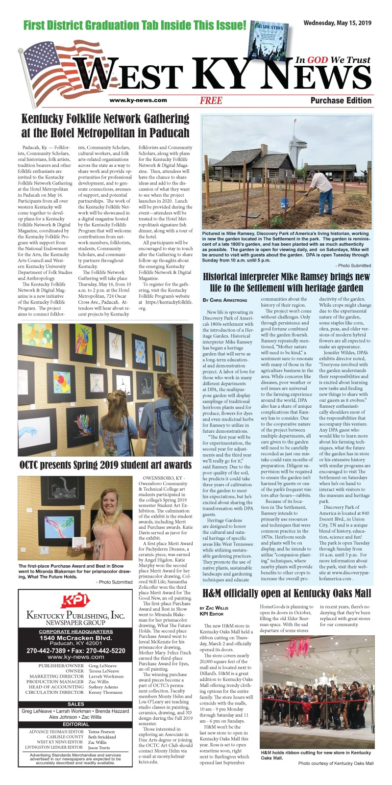 West KY News Purchase edition 5-15-19