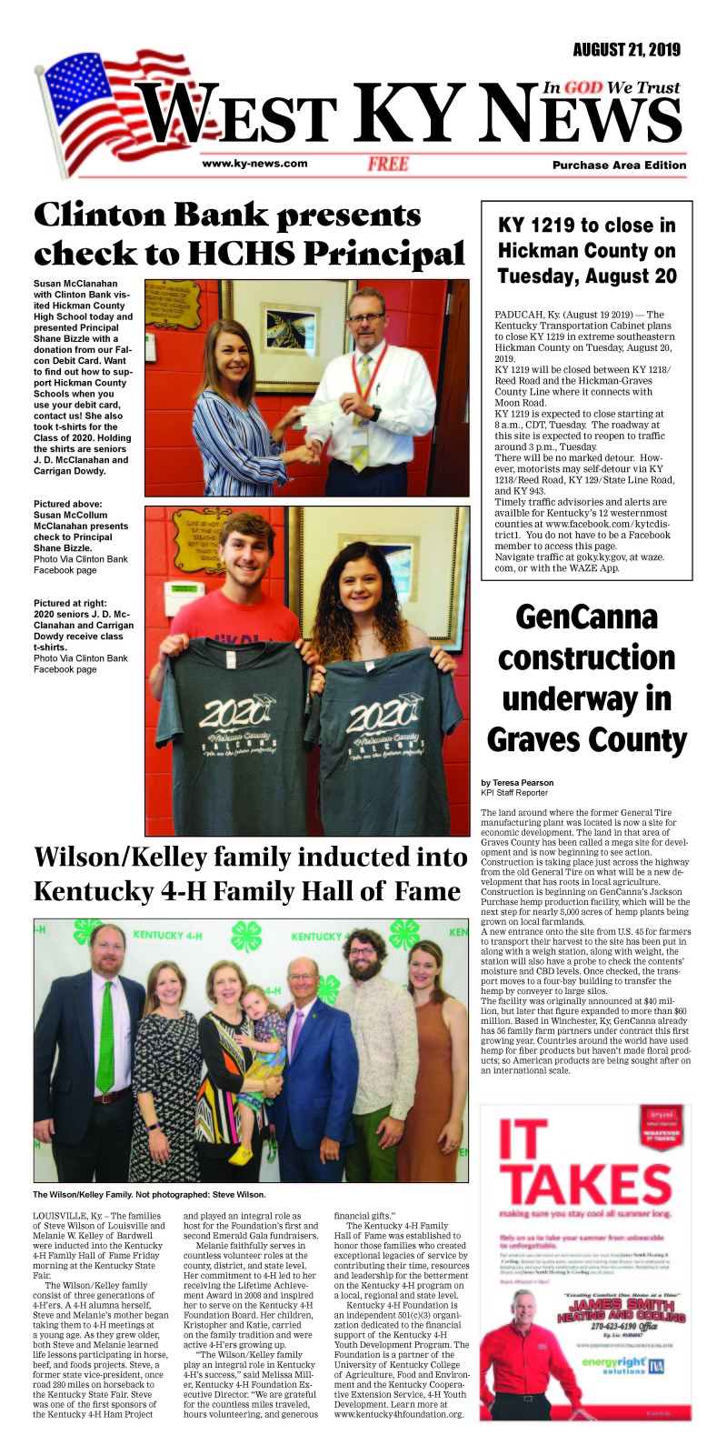 West KY News Purchase edition 8-21-19