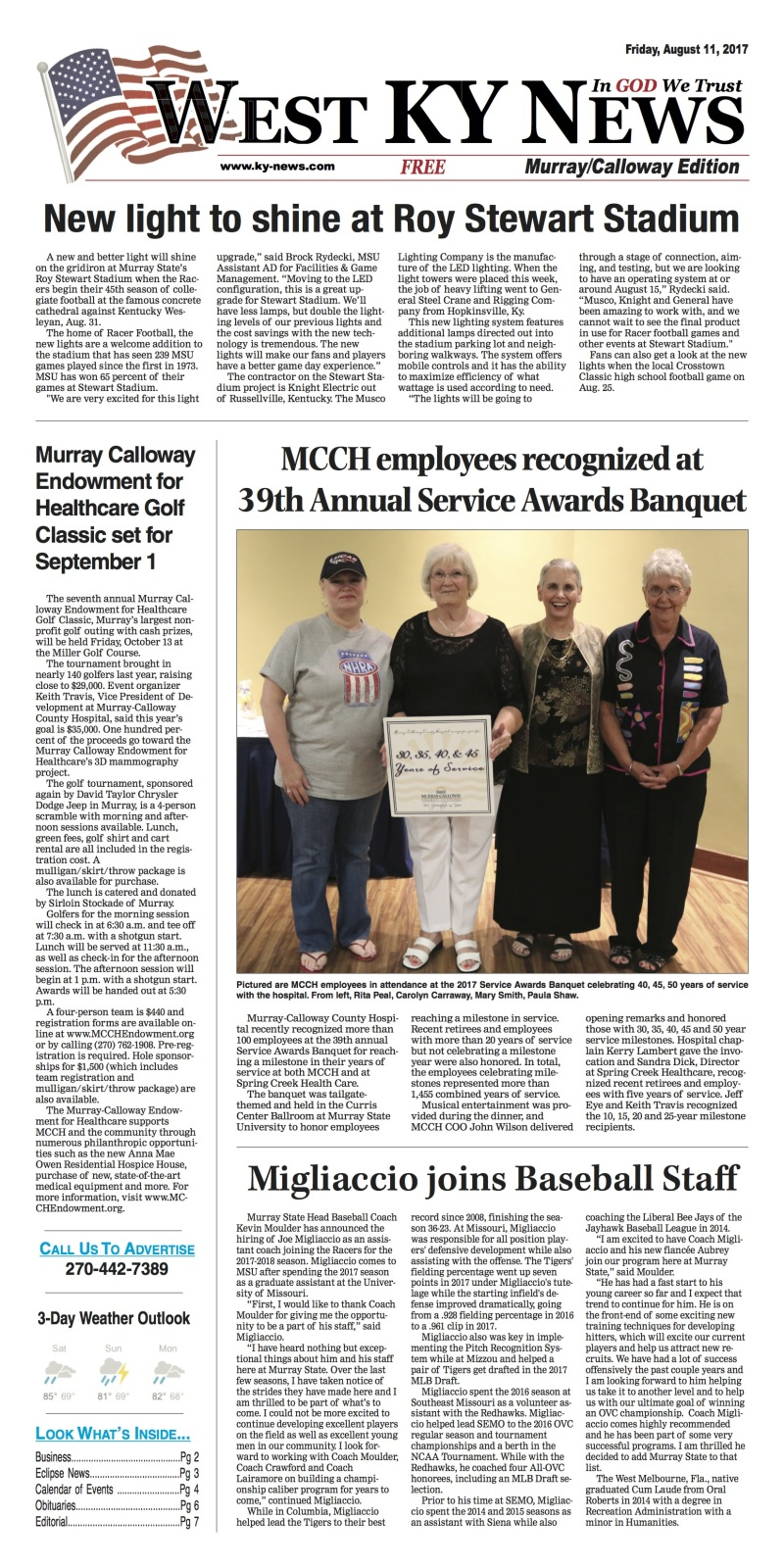 West KY News: Murray/Calloway Edition 8-11-17