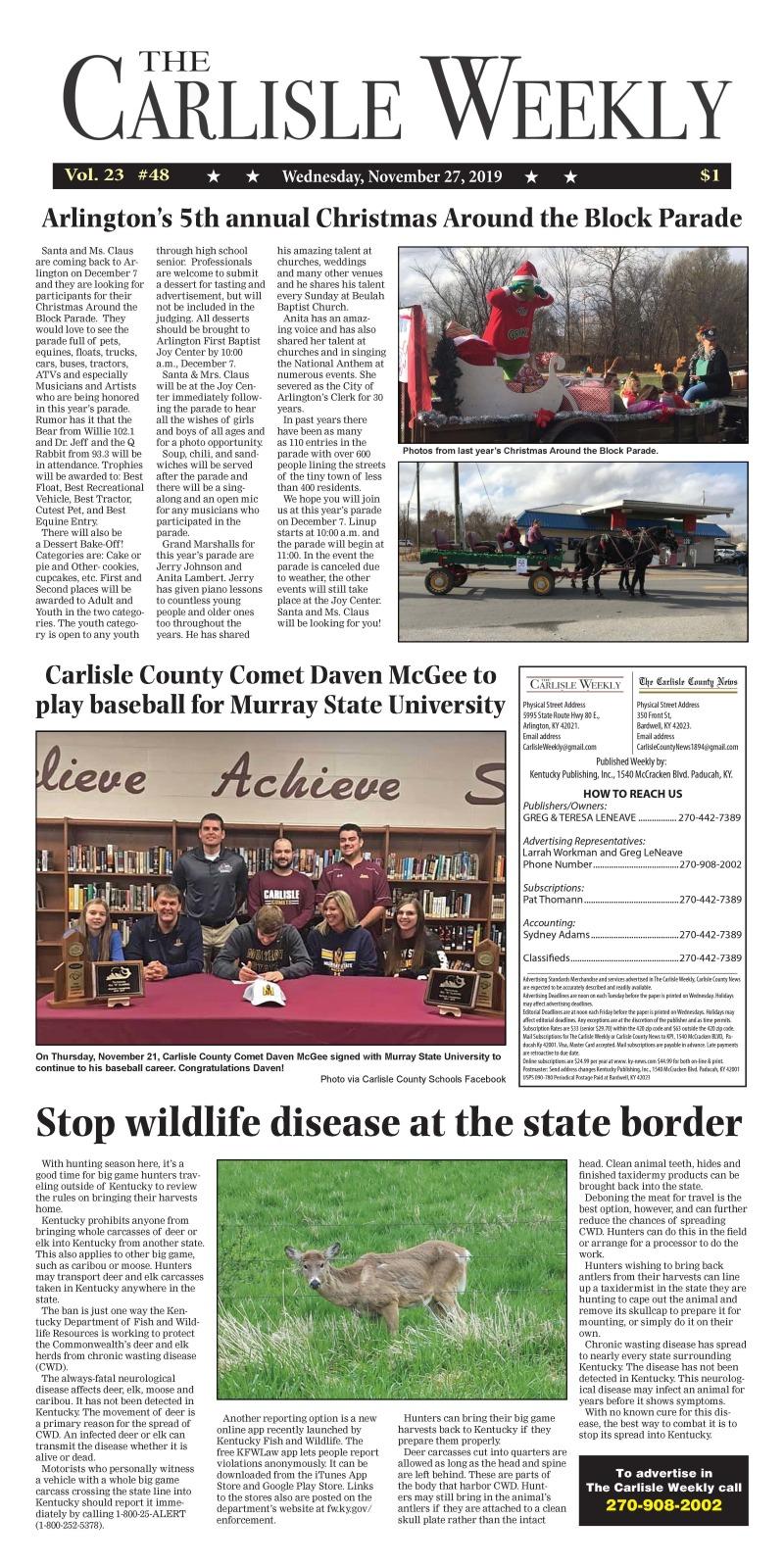 Carlisle County Weekly 11-26-19