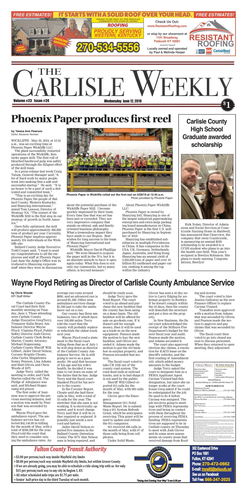 Carlisle County Weekly 6-12-19