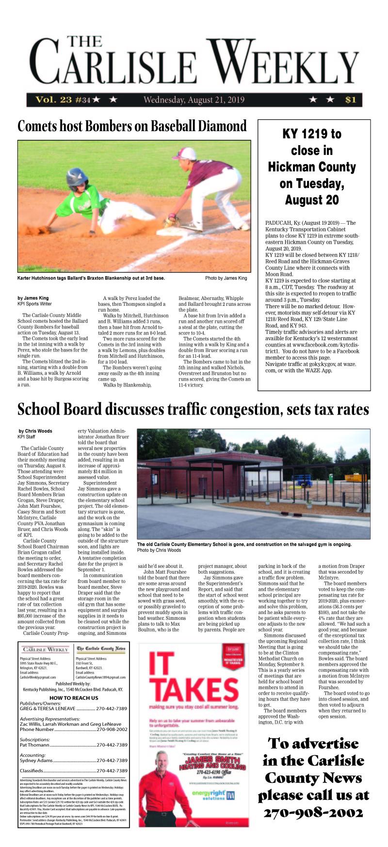 Carlisle County Weekly 8-21-19