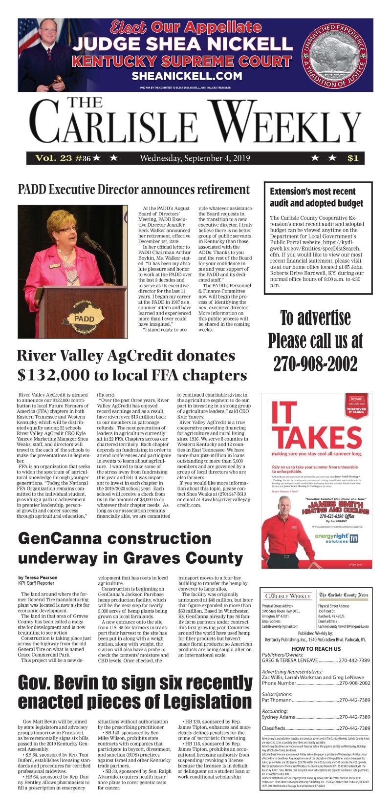 Carlisle County Weekly 9-4-19