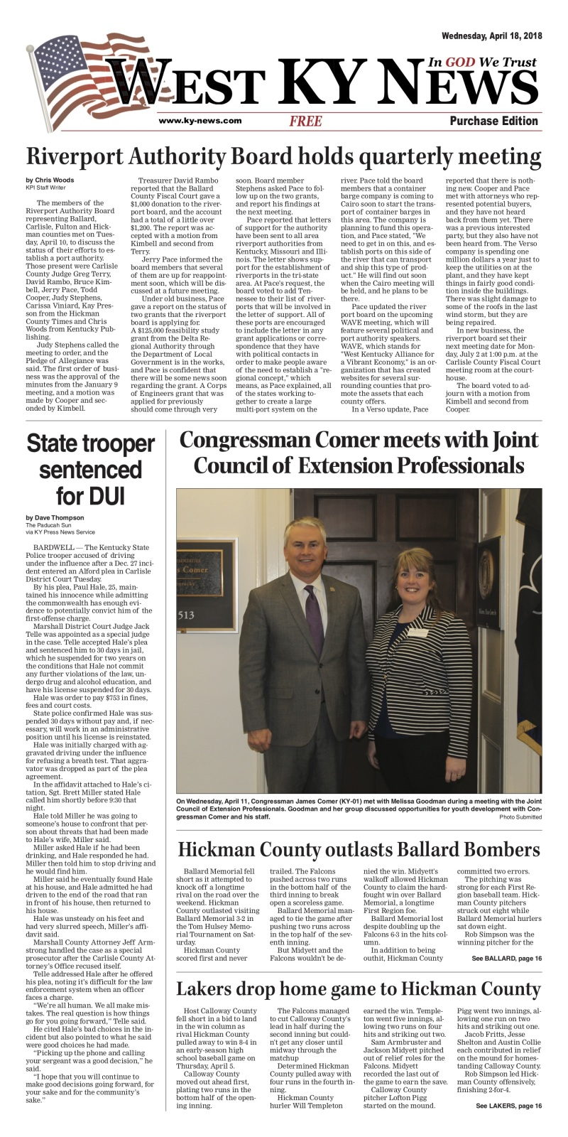 West KY News: Purchase Edition 4-18-18