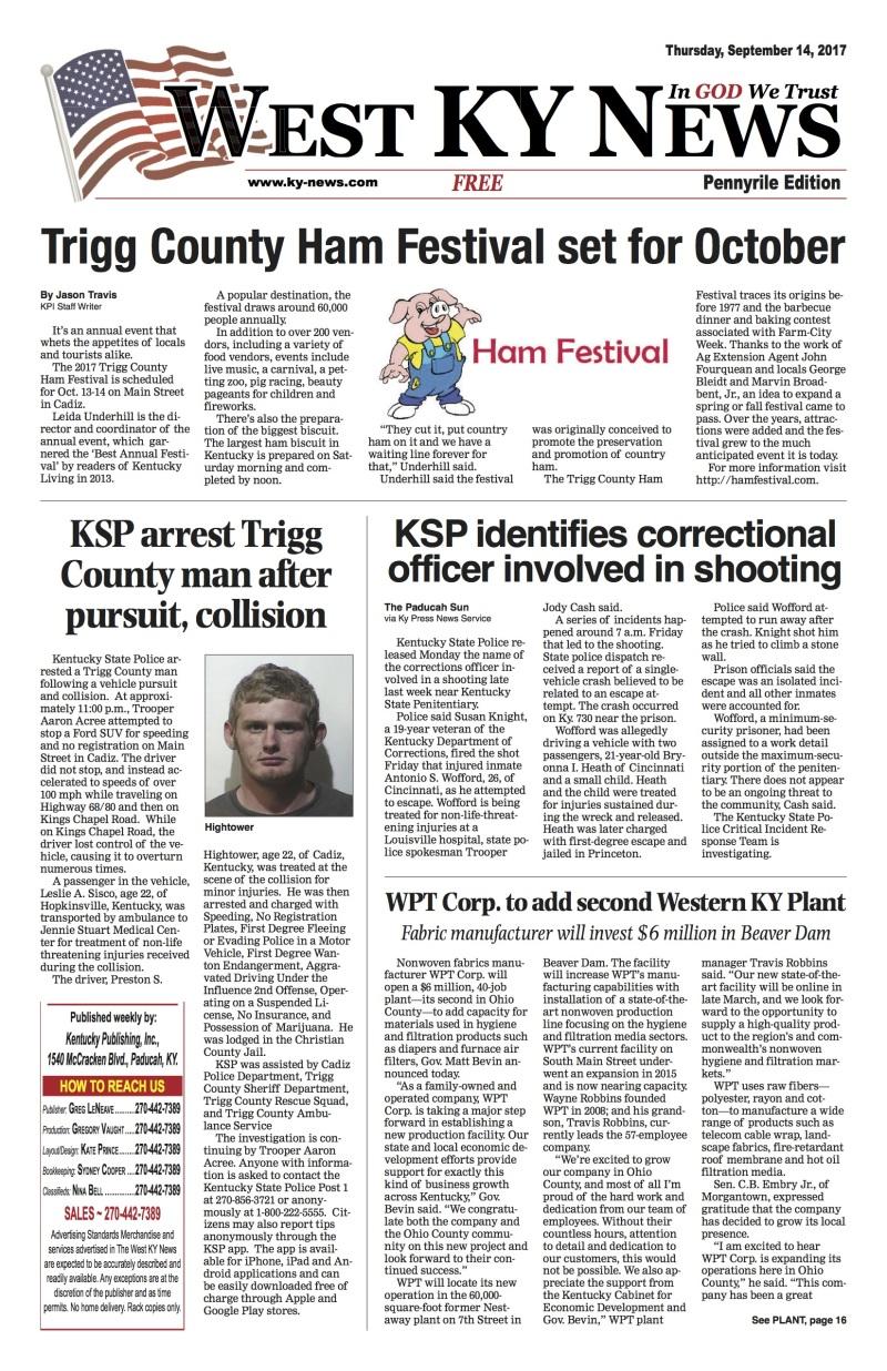 West KY News: Pennyrile Edition 9-14-17