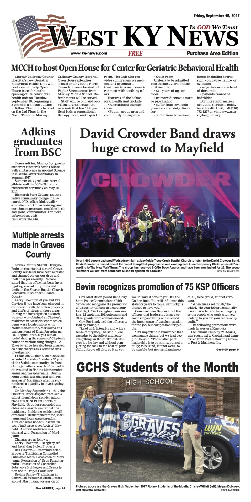 West KY News Purchase Edition 9-15-17